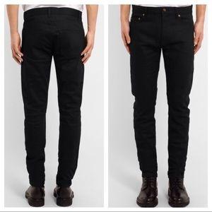 Saint Laurent Paris D02 M/SK-LW Black Skinny Jeans